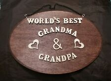 2019  Anniversary Personalized Gift for Dad/Mom/Grandma/Grandpa Frame Wood