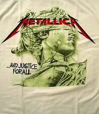 METALLICA cd lgo CHROME STATUE Official White SHIRT LRG New and justice for all