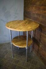 Big Poseur Table 85cm, 4 Legs, Bag Shelf, Reclaimed Scaffold Board and Steel