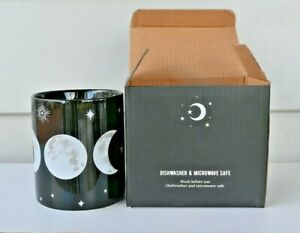 9cm Triple Moon Goddess Black/White Mug Patio Home Decoration Wicca Pagan