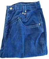 Roper Jeans Blue No Back Pocket Medium Wash High Waisted Denim Pants Size 17/18