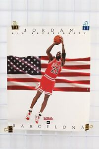 Vintage 1992 Barcelona Olympics NIKE MICHAEL JORDAN Poster 20x16