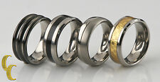 Tungsten & Titanium Band/ Ring, Lot of 4 Sizes 8 to 8 1/2