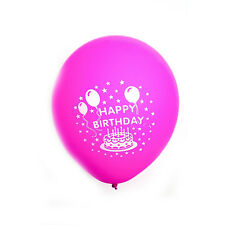 Printed Happy Birthday Latex Helium Balloons Party Baloon Air Colours 12 inch