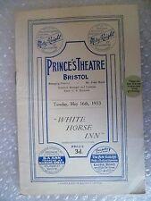 1933 Princes Theatre Programme WHITE HORSE INN-Betty French, Syd Walker,E Charel