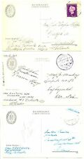 NEDERLAND KNSM 1947/1950  6 x AK MILITAIR -SHIP - TABINTA -  F/VF  @4