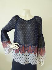 WISHFUL PARK TOP Bell Sleeve Boho Size S 8 10