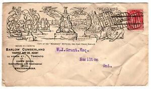Canada 1898 QV 3c Carmine MULREADY Advertising Cover TORONTO Flag Postmark (29)