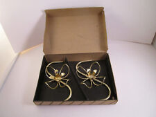 Vintage Lustro Magic Pair of Flower Candle Holders