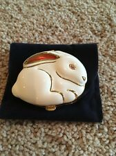 "Estee Lauder ""White Bunny"" Pressed Powder Compact Rare New in Box"