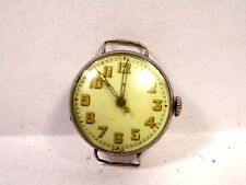 Vintage ISOLA 16 Jewel 3 Adj Wind Mens small Trench Watch repair Sterling Silver