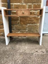 H85 W85 D22cm BESPOKE CONSOLE HALL TELEPHONE TABLE CHUNKY 1 DRAWER CREAM SATIN