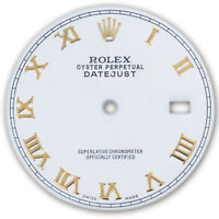 REFINED MENS 2-TONE DATEJUST WHITE ROMAN NUMERAL DIAL FOR ROLEX-36