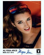 ALYSSA ARCE Autograph Signed 8x10 Photo #472 PLAYBOY PLAYMATE HEAD SHOT SEXY