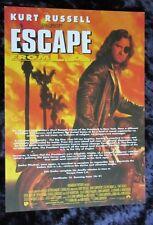 ESCAPE FROM L.A. uk synopsis card KURT RUSSELL, JOHN CARPENTER