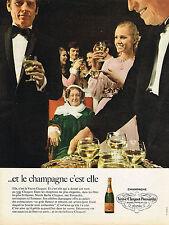 PUBLICITE  1968   VEUVE CLICQUOT-PONSARDIN  champagne