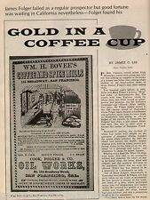 Folger's Gold In A Coffee Cup History + Genealogy