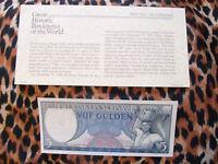 Great Historic Banknotes Suriname 1963 5 Gulden P120 UNC
