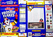 1992 Frosted Flakes Pittsburgh Penguins Cereal Box unused factory Flat shm249