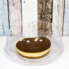 VINTAGE in plastica per torte cupola al servizio di visualizzazione stand Piastra Con Coperchio Formaggio dessert