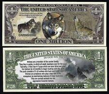 new Wolf Million Dollar Bill Fake Play Funny Money Novelty Note + FREE SLEEVE