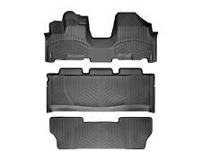 WeatherTech FloorLiner for Honda Odyssey - 2005-2010 - 1st OTH/2nd/3rd Row-Black
