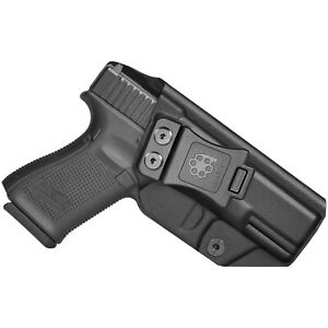 Amberide IWB KYDEX Holster Fit: Glock 19/19X/44/45 Gen3-5 & Glock 23/32 Gen3-4
