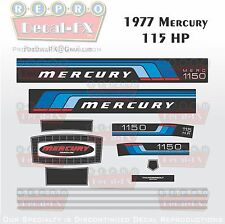 1977 Mercury 115 HP Outboard Reproduction 13 Piece Marine Vinyl Decals 1150