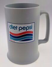 Vintage Diet Pepsi Mug Retro Plastic Duracraft Grey Logo 1975-1986 Stein