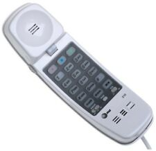 Push Button Phone Corded Land Line Handset Office Desk Telephone Basic Old White