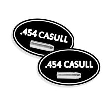 """454 CASULL Ammo Can STICKERS LABELS DECALS Ammunition Gun Case 5""""x3"""" OVAL 2 pack"""