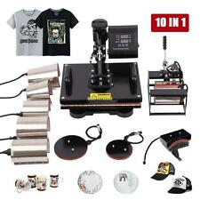 10in1 Digital Heat Press Transfer Machine Sublimation T-Shirt Mug Hat Plate Cap