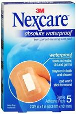 Nexcare Waterproof Premium Adhesive Pads 2-3/8 Inches X 4 Inches 5 Each -2 Pack