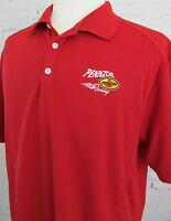 Men's Nike Pennzoil Racing Golf Polo Work Shirt Size XL Red