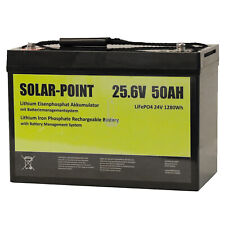 XENES ECO-Line 24V 50Ah LiFePO4 Smart-BMS Lithium Versorgungs-Solar-Batterie 100