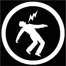 Warning, Green Day Symbol, Cut Vinyl Bumper or Window Sticker, Decal