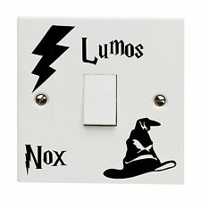 Harry Potter Lumos NOX Light Switch Decal Childs Room Wall Art Sticker