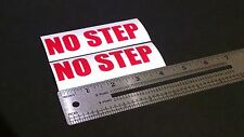 """No Step Decal Red Marine Boat Safety 4"""" Stickers (Pair)"""