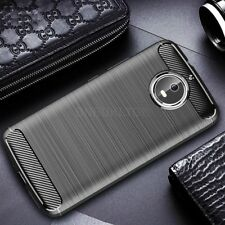 Pour Motorola Moto G5S Fibre de Carbone Gel Case Cover Ultra Slim Antichoc