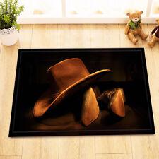 Western Cowboy Hat Root Home Decor Non-Slip Bathroom Mat Door Floor Rug Carpet