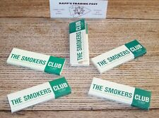 THE SMOKERS CLUB Lot of 5 PACKS 1 1/4 size Hemp Cigarette Rolling Papers 420