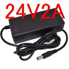 AC 100V-240V Converter Adapter DC 24V 2A / 2000mA 48W Power Supply Charger 5.5mm