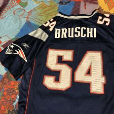 Tedy Bruschi New England Patriots Reebok Jersey Boys Large Youth Blue Football