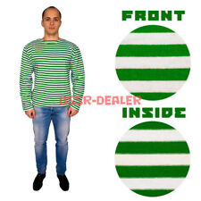 RUSSIAN GREEN GENUINE BORDER FORCES STRIPED LONG SLEEVED T-SHIRT TELNYASHKA