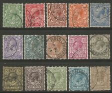STAMPS-GREAT BRITAIN. 1912. Royal Cypher Set Inc Both 9d's SG: 351/96. Fine Used