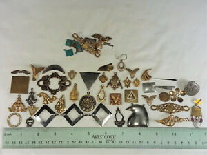"""50 BRASS STAMPINGS """"SHAPES"""", ASSORTED- FOR JEWELRY & CRAFTING- MADE IN USA"""