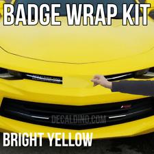 Yellow Car Emblem Wrap Kit -For Chevy Camaro Bowtie Vinyl Badge Decal Sonic Part