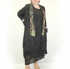 NEW NWT Lee Andersen Plus Size Iris Duster Embroidered Formal Long Opera Coat 1X
