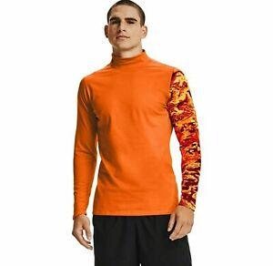 Under Armour Men's ColdGear Base 2.0 Crew Shirt Size XL / 2XL Orange 1360577-850