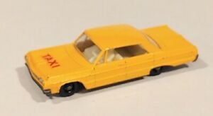 20-C2 EXC! Orange - Yellow Impala Taxi Lesney Matchbox circa '65